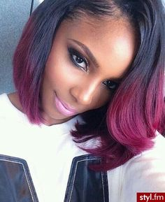 Cute hair☻#ombre hair extensions #where to buy hair extensions #Two tone color hair http://www.latesthair.com/