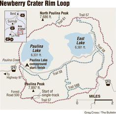 Newberry Rim offers spectacular singletrack; Loop mountain bike ride east of La Pine has stunning views