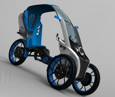 Foldable Velocity electric tricycle suits century cramped city space the… Velo Design, Bicycle Design, Electric Tricycle, Electric Cars, Velo Tricycle, Reverse Trike, Cargo Bike, Moto Bike, Pedal Cars