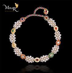 Jewel - Pearl Necklace  Designed by - Mira Gulati, Graduate Jeweler Gemologist(GIA)   Crafted by - http://Mirari.com