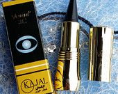 Kohl or Hashmi Kajal arabic eye make up / Delineador de ojos arabe. Deja la mirada de un negro intenso y duraredo al contener henna.