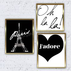 Set of 3 Paris Prints  Paris Decor  Wall Decor  by lulusimonSTUDIO, $40.00                                                                                                                                                     More