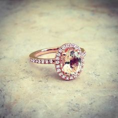 I pretty much love any ring with a large stone, or a large center cluster of stones, and then a simple band lined with stones. My heart melts!