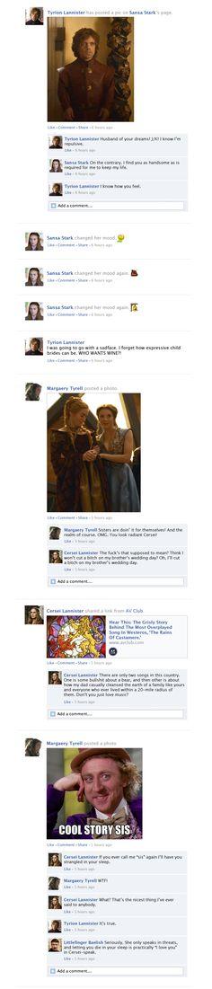 Game Of Thrones Facebook Recap Season 3 Episode 8 | Happy Place