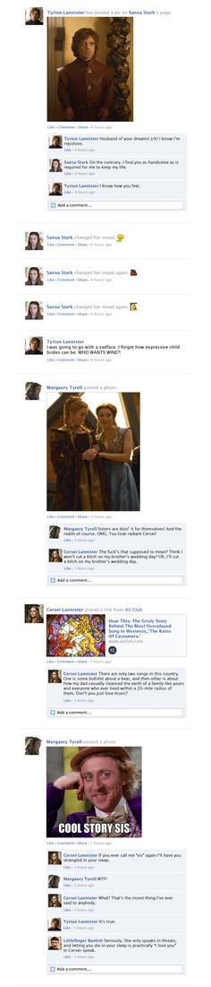 Game Of Thrones Facebook Recap Season 3 Episode 8 | Happy Place