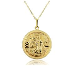 St Christopher Pendant, Saint Christopher, Christmas 2016, Gold Necklace, Women Jewelry, Watches, Lady, Stuff To Buy, Shopping