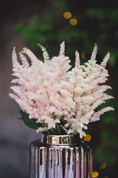 <3 Astilbe centerpiece - San Juan Capistrano Wedding from Closer to Love Photography
