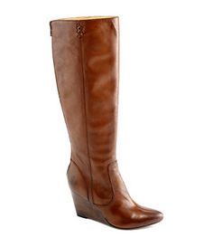 Frye Regina Wedge Tall Boots | Dillard's Mobile