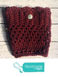 9200a4520f91a8 Handmade Wool Boot Cuffs Burgundy Cranberry Boot Socks Legwarmers Toppers  Pewter Button Calf Warmers Preppy Boho
