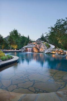 backyard swimming pool accent lights
