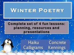 Winter Poetry Forms for KS1, KS2 & KS3