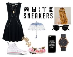 """""""Basic"""" by galaxysea ❤ liked on Polyvore featuring Converse, Oasis, Topshop, Marc Jacobs, Casetify, Vera Bradley and whitesneakers"""
