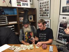 On deadline day for the New Hampshire Primaries, the political activist and performance artist Vermin Supreme filed to run for president--handing in his $1,000 filing fee in the form of stamped cash!