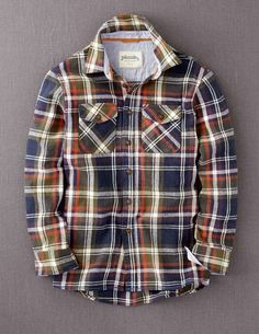 plaid flannel for boys. this with brown cords would be so good.  kid style
