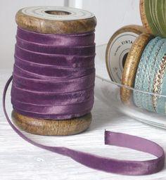Purple ribbon Elastic Ribbon, Lace Ribbon, Silk Ribbon Embroidery, Velvet Ribbon, Magenta, Pink Purple, Purple Ribbon, Ribbon Colors, Mauve