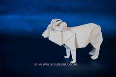 Akira Yoshizawa Origami Ram. Folded and photographed by Himanshu Agrawal.