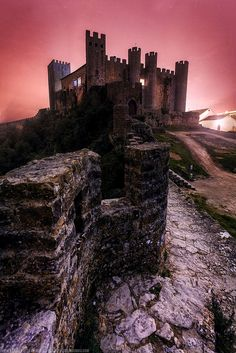 Early Morning at Obidos Castle - Portugal