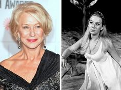 25 Older Actresses Who Were Smoking Hot When They Were Younger Older Actresses, Female Actresses, Hollywood Actresses, Actors & Actresses, Best Bond Girls, Divas, Young Movie, Dame Helen, Celebrities Then And Now