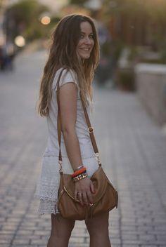 UK fashion blogger Emily Salomon looks boho chic with the Alex zip messenger in scotch.