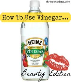 #Vinegar isn't just a great way to clean your home, or alkaline your body. It's also great for #beauty care. Find out more here!
