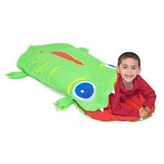 Slumber Bags - Melissa Doug Sunny Patch Augie Alligator Sleeping Bag *** More info could be found at the image url. Kids Sleeping Bags, Melissa & Doug, Sleep Sacks, Kids Bags, Boutique, Sleepover, Camping Gear, Camping Essentials, Bag Storage