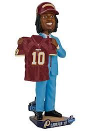 Robert Griffin III (Washington Redskins) 2012 NFL Draft Day Bobble Head Forever #/504