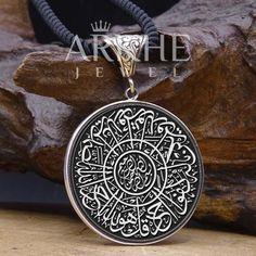 İhlas Suresi Yazılı Gümüş Kolye - Arkhe Jewel Jaba, Pendant Necklace, Silver, Jewelry, Jewlery, Jewerly, Schmuck, Jewels, Jewelery