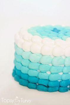 Blue ombré cake for a nemo themed cake smash