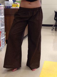 Handmade brown palazzo pants