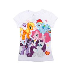 Shop for Girls Youth My Little Pony Tee in Multi at Journeys Kidz. Shop today for the hottest brands in mens shoes and womens shoes at JourneysKidz.com.Adorable top featuring her favorite My Little Pony characters, including Applejack, Twilight Sparkle, Rainbow Dash, Rarity, and Pinkie Pie. White cotton blend tee featuring colorful front graphics.