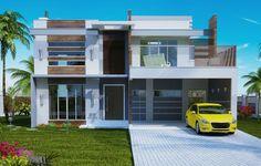 205 -Plantas de casas – fachadas sobrados –  frontal