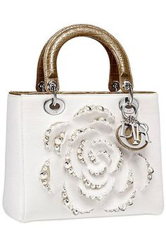 Christian Dior - Cruise Bag - 2013. OOOOH. I am in love with the rose. TDF!