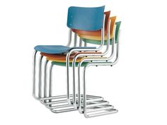 Buy online S 43 st By thonet, cantilever stackable chair design Mart Stam, s 43 Collection Bauhaus Style, Bauhaus Design, Bauhaus Chair, Mart Stam, Furniture Decor, Furniture Design, Electric Standing Desk, Bauhaus Architecture, Cantilever Chair
