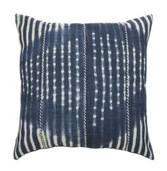 The Safavieh Laurena Square Throw Pillow makes a daring statement in your home decor. This throw pillow can be added to a sofa or chair, transforming any room with Japanese shibori dying techniques and blue and cream colors. Blue Throws, Blue Throw Pillows, Throw Pillow Sets, Outdoor Throw Pillows, Accent Pillows, Floor Pillows, Cream Pillows, Cream Bedding, Linen Bedding