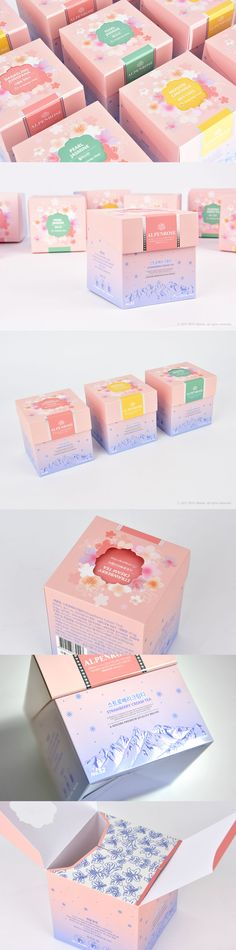 알펜로제 TEA 패키지 샘플 Organic Packaging, Vintage Packaging, Cute Packaging, Food Packaging Design, Brand Packaging, Branding Design, Packing Box Design, Ecommerce Packaging, Cosmetic Design
