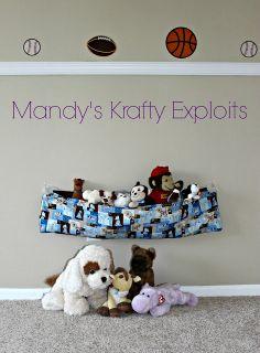 DIY Fabric Sling for Stuffed Animals by Mandy's Krafty Exploits