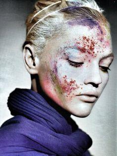 Sasha Pivovarova by Miguel Reveriego for Vogue Russia August 2007