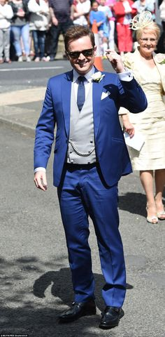 Smartening up his act: Dec, always a fan of a tailored suit, looked especially dapper on h...