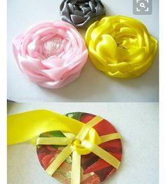 Silk Ribbon Embroidery Flowers Wove through circle ribbon rose. Satin Ribbon Roses, Ribbon Art, Diy Ribbon, Satin Flowers, Fabric Ribbon, Ribbon Crafts, Flower Crafts, Diy Flowers, Fabric Crafts
