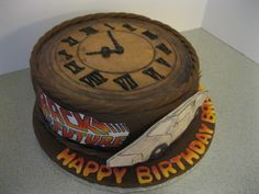 A Back to the Future themed cake