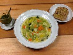 Sopa de legumes com pesto de manjericão :: Pimenta na cozinha