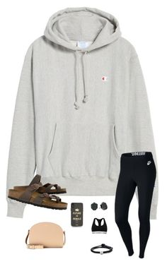 """""""Have a good Sunday everyone"""" by trujilloxochitl on Polyvore featuring Champion, Calvin Klein, Kendra Scott, NIKE, Lokai, Sonix, Birkenstock and A.P.C."""