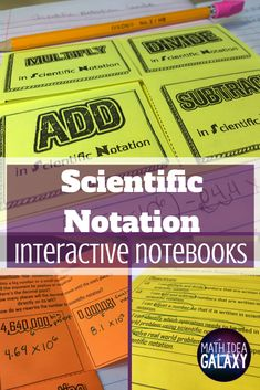 How to teach scientific notation with interactive notebooks Check out the break down of my whole scientific notation unit for interactive notebooks in this post! Includes foldable graphic organizers, learning targets, guided practice, and more! Math Notebooks, Interactive Notebooks, 8th Grade Math, Math Class, Classroom Resources, Math Resources, Classroom Ideas, Scientific Notation, Learning Targets