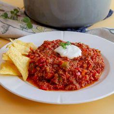 Chili con carne uten kjøtt Quinoa, Risotto, Ethnic Recipes, Food, Chili Con Carne, Essen, Meals, Yemek, Eten