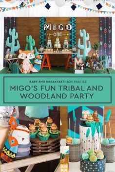 Migo's Fun Tribal and Woodland Party Will Brighten Your Day! | Woodland | Animals | Tribal | Birthday Party | Boy Party | http://babyandbreakfast.ph/2017/05/30/migos-fun-tribal-and-woodland-party-will-brighten-your-day/