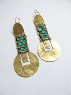 Turquoise Saguaro Earrings by demimondejewelry on Etsy