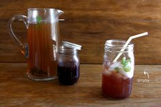 Blackberry Mint Tea - Since I am moving to the south, I need to become an iced tea drinker!