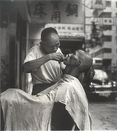 街頭理髮 1963 HK Barber shop #hongkong