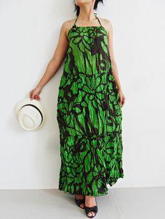 25% SALE Flower Green Long Dress..... by thaichaiangraicotton