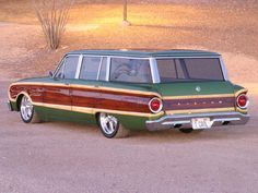 1963 Ford Falcon wagon - my uncle had one but without the wood paneling.